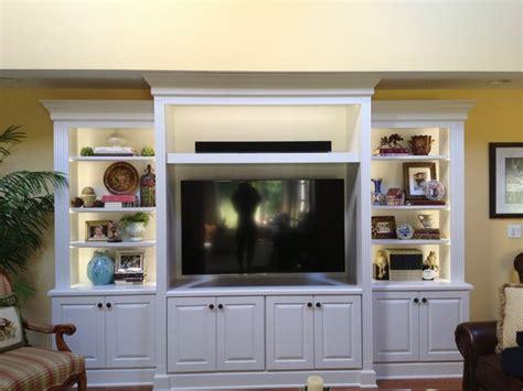White entertainment center   Traditional   Family Room