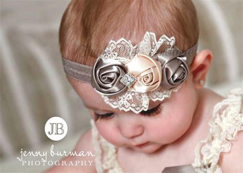 baby headband newborn headband beautiful lace by thinkpinkbows sale grey baby headbandnewborn headband by thinkpinkbows