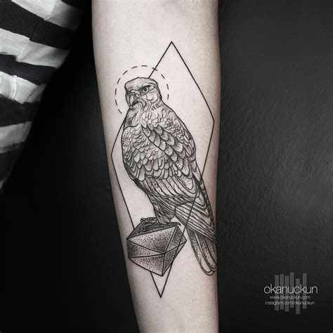 geometric tattoo usa geometric eagle tattoo on left forearm by okan uckun