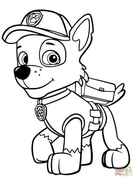 paw patrol chase badge coloring page paw patrol rocky coloring page free printable coloring pages