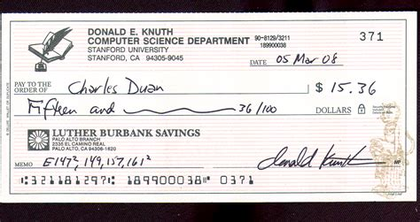 the check check from donald knuth