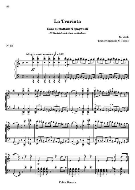 La traviata 12. Coro di mattadori spagnuoli - Piano