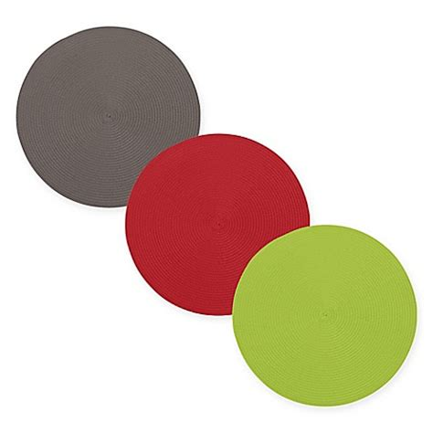 placemats bed bath and beyond ziczac round placemat set of 4 bed bath beyond