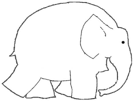 blank elephant template elmer clipart free clip free clip on clipart library