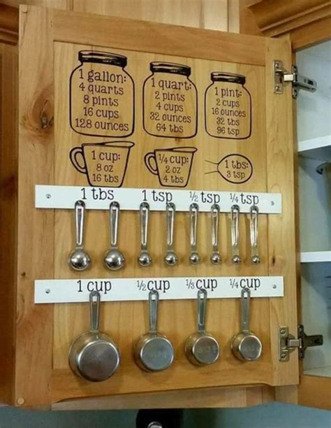 sticky kitchen cabinet doors 1000 ideas about measuring cup storage on pinterest measuring cups organize food pantry and