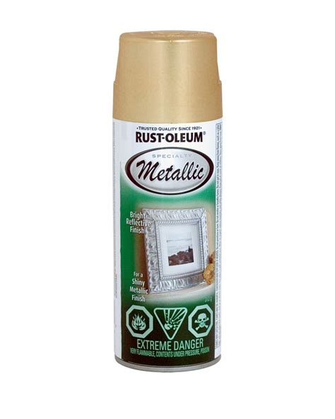 rust oleum specialty metallic finish gold 312g aerosol