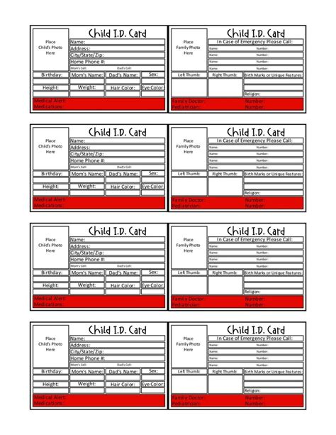 emergency information cards template 25 images of identification card template kpopped