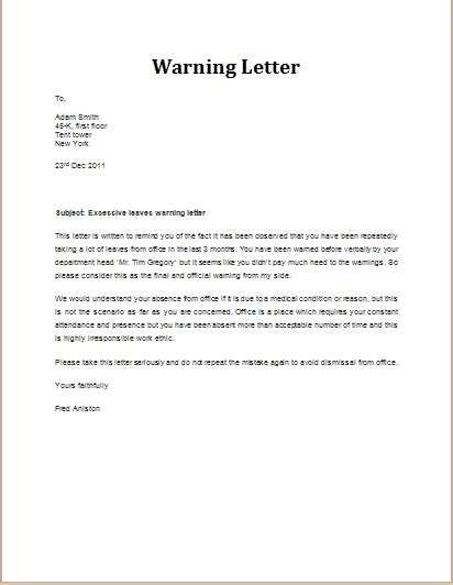 Letter To Employees Exle
