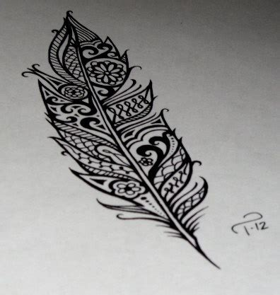 unique feather tattoo designs feather images designs