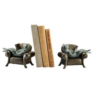sofa shops reading frogs reading on sofa bookends