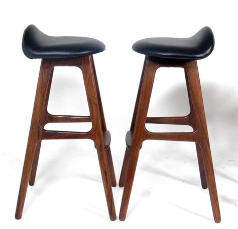 modern bar stools on sale danish modern bar stools by erik buck for sale at 1stdibs