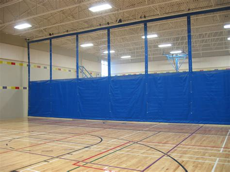 gym curtain divider electrafold divider curtains forum athletic