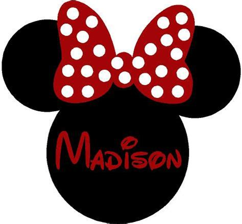 Best Bathroom Colors by Minnie Mouse Ears Name Personalized 26x24 By