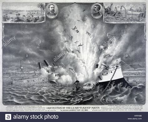 sinking of the maine sinking of the uss maine 1898 stock photo royalty free