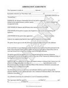arbitration template office communication forms