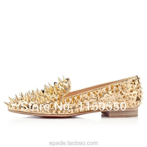 gold spiked loafers gold spiked loafers mens christian louboutin mens shoes sale