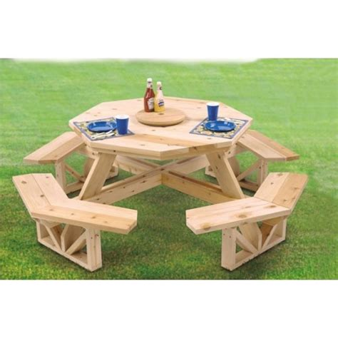 Picnic Table Pattern by Octagon Picnic Table Pattern Outside Gardening
