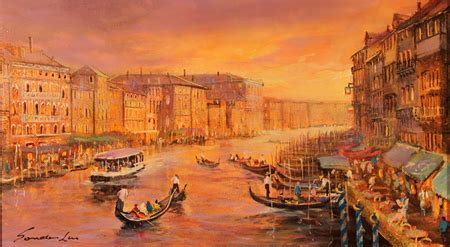 Gorden Venice Gordon Lees Original Painting On Panel Venice