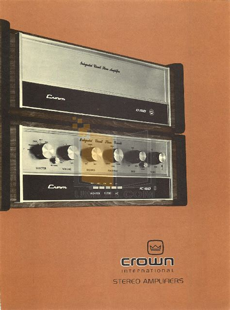 Power Lifier 21 Stereo 150 X 2 300 Watts Subwoffer 200 Watts crown d150 integrated circuit stereo lifier 28 images crown d150a image 124597 audiofanzine