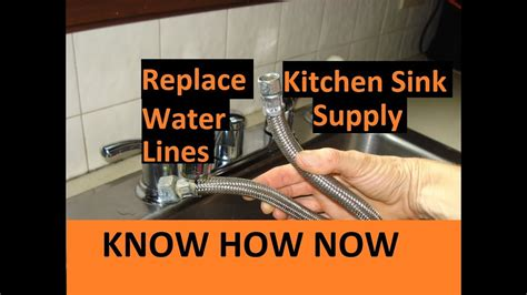 Kitchen Sink Supply Lines by Replace Kitchen Sink Water Supply Lines