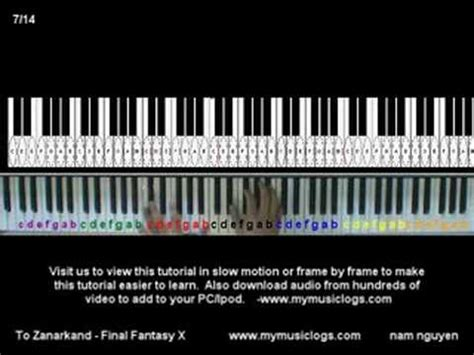 tutorial zanarkand piano how to play to zanarkand piano tutorial youtube