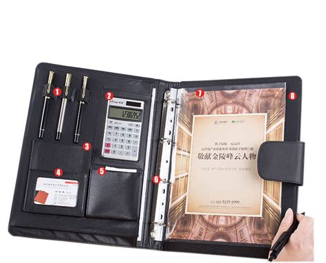 Spiral Kawat A4 No 7 Type 7 16 95 Lembar 11 0 Mm multifunctional high quality pu leather cover a4 folder for documents a4 spiral notebook paper