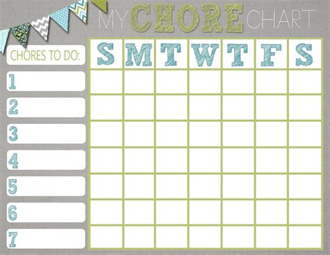 Mrs This And That Free Chore Chart Printable Would Be Cute To Put In A Frame Or Laminate For Printable Chore Chart Template