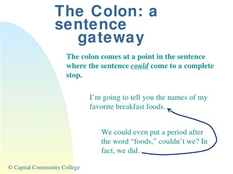 scow used in a sentence using colons