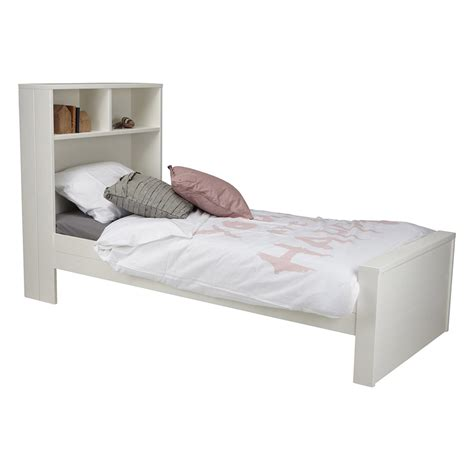 Bed With Headboard Storage Max Contemporary White Single Bed With Headboard Storage Single Beds