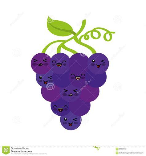 imagenes de uvas kawaii car 225 cter del kawaii de la fruta fresca de las uvas