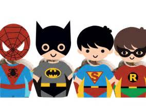 superhero kids cupcake toppers amp wrappers instant