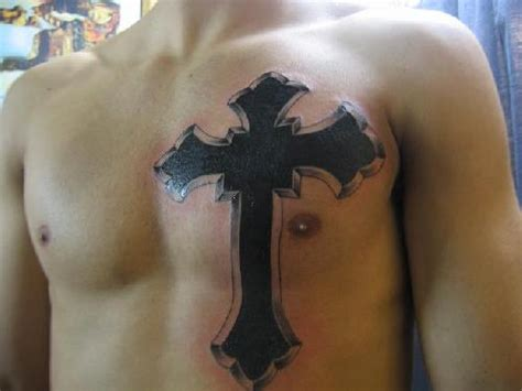 tattoo cross on chest amazing cross wings tattoos for inspiration