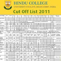 Delhi School Of Economics Mba Cut 2016 by Hindu College Cut List 2011 Delhi