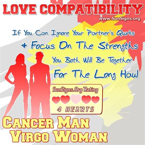 cancer man and virgo woman love compatibility sun signs