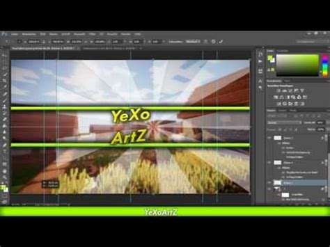 Kanal Design Vorlage Photoshop Einfaches Minecraft Kanal Design Mit Photoshop Erstellen Starburst German