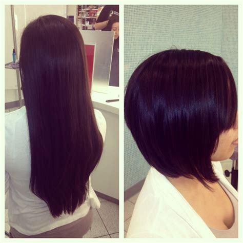 before and after graduated bob haircuts haircuts after hair donation hairstylegalleries com
