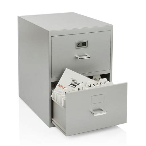 Mini Filing Cabinet with Mini File Cabinet Digital Clock By Tech Tools Fab