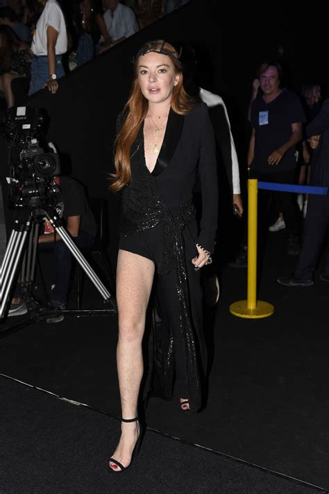 Lindsay Lohans Graces The Ny Fashion Week by Lindsay Lohan At Malne Fashion Show At Mercedes
