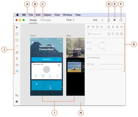 layout grid adobe xd learn about the design and prototyping interface in adobe xd