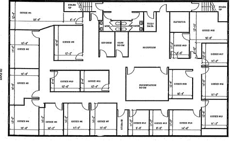 The Office Us Floor Plan by Birmingham Executive Offices Plans