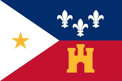 the flag of the acadiana is the cajun tri color w
