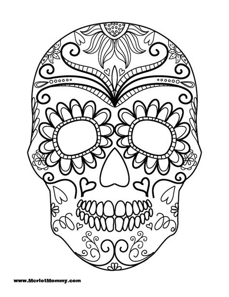 sugar skull coloring page pdf free halloween coloring pages whisky sunshine