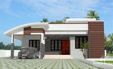 home disign 1000 sq ft modern single floor home kerala home design