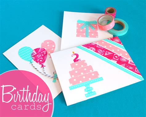 how to make a birthday card for omiyage blogs diy washi birthday cards