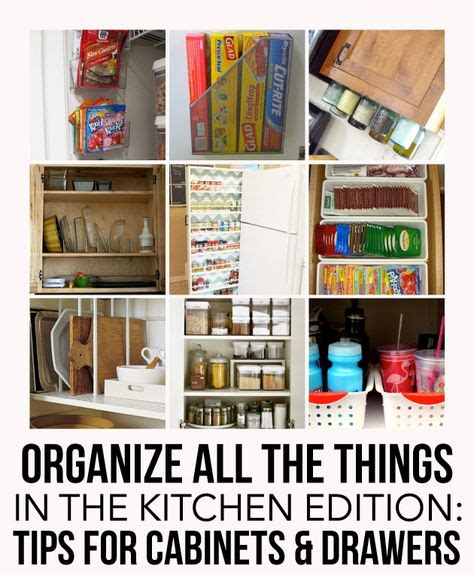 how to organize your kitchen cabinets and drawers organizing the kitchen on pinterest kitchen organization