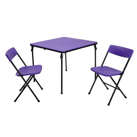 purple folding chair cosco 3 purple folding table and chair set