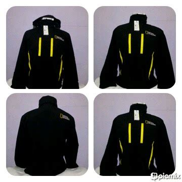 Jaket Motor Kulit Simple Model Hitam List Kuning jaket gunung outdoor national geographic bahan dalam polar sahabat petualang kita
