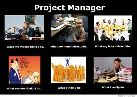 Project Manager Meme - what i really do as a project manager in web industry