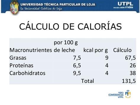 calculo calorias alimentos calculo de calorias i bimestre nutricion dietetica e