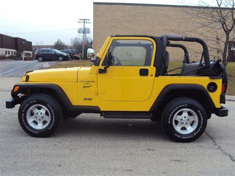 2001 Jeep Wrangler Sport Highland Motors Chicago Schaumburg Il Used Cars